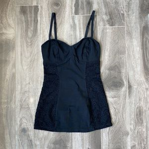 Women's Talula tank top - black and lace